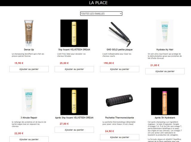 Ouverture du E-shop «Click & Collect» Coiffure La place !